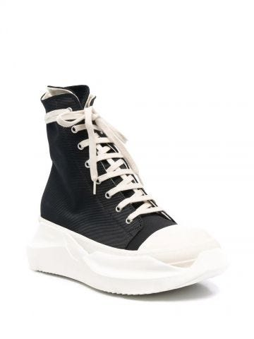 Black Abstract high-top sneakers