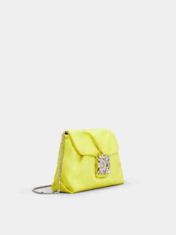 Mini Drapé bag in yellow satin