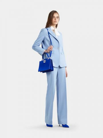 So Vivier Mini Bag in blue suede