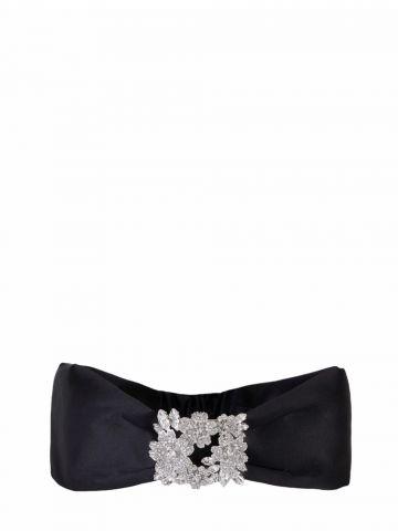 RV Bouquet Strass Bandeau in black satin
