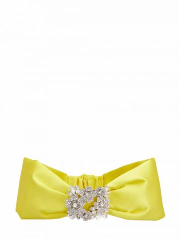 RV Bouquet Strass Bandeau in yellow satin
