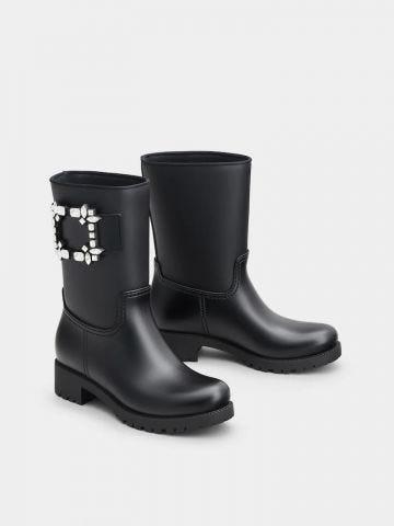 BlackTempete Viv' Strass Buckle Boots