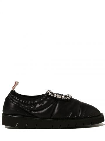 Black technical fabric RV slipper