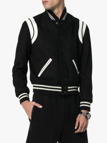 Black and white Teddy jacket