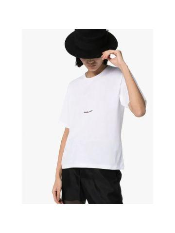 T-shirt a maniche corte boyfriend bianca