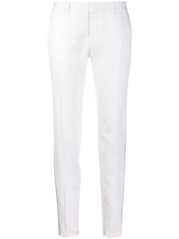 Tuxedo pants in grain de poudre