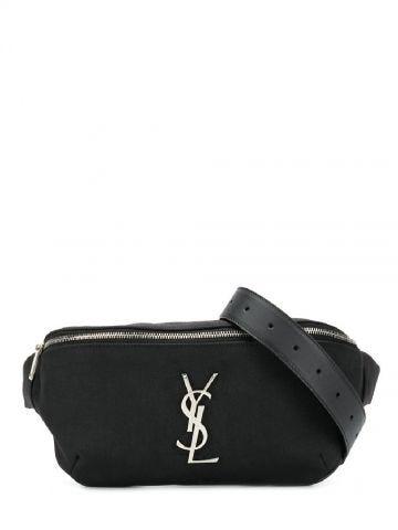 Black YSL belt bag