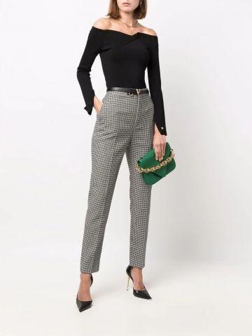Pantaloni con stampa grigi