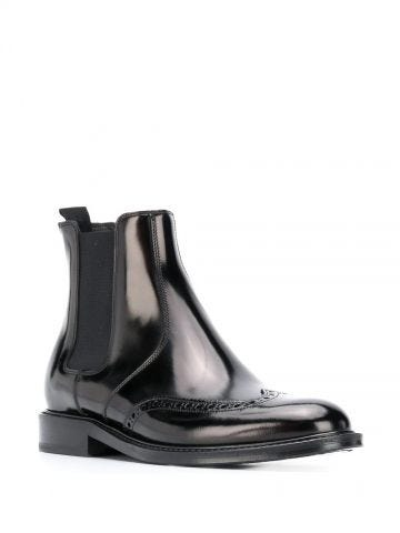 Army Chelsea boots in smooth black leather