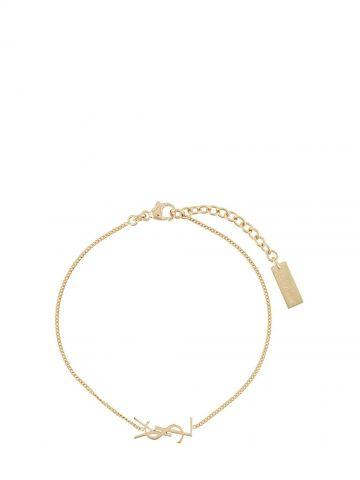 Bracciale in metallo dorato con charm Opyum