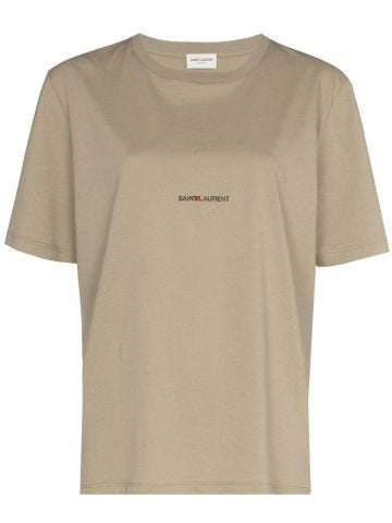Beige Saint Laurent Rive Gauche T-shirt