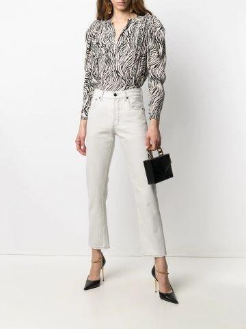 Authentic jeans in white denim