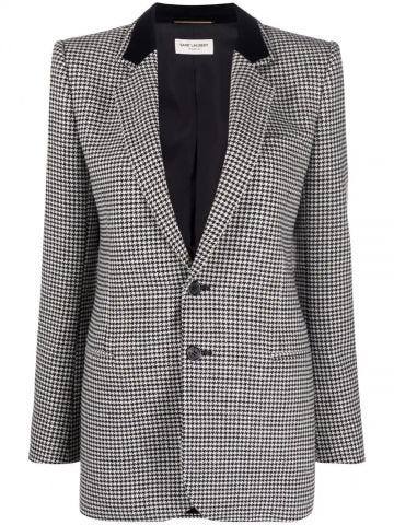 Grey single-breasted blazer
