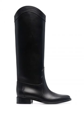 Kate boots in smooth black leather