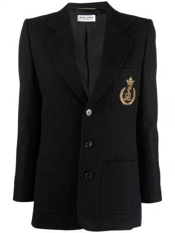 Black single-breasted blazer