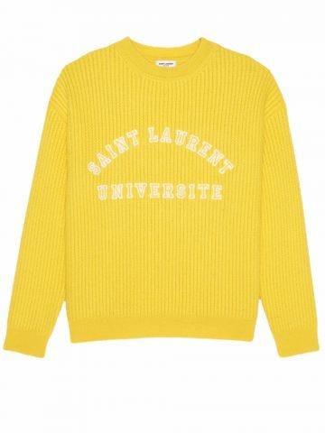 Yellow Saint Laurent Université wool sweater