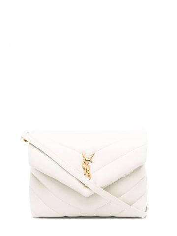 White Loulou toy bag in Y-quilted leather