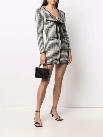 Stripe-detail knitted dress