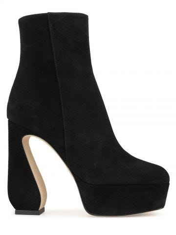 Black SI ROSSI ankle boots 85 mm