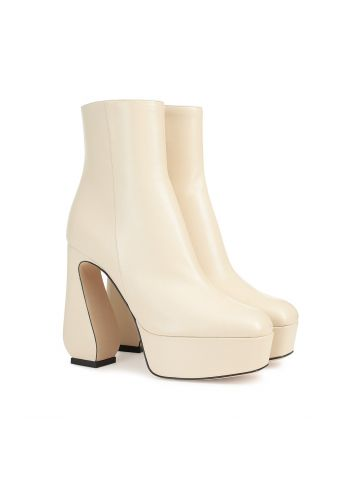 Beige SI ROSSI ankle boots 85 mm