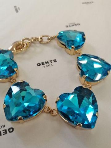 Ex Heart blue bracelet by Silvia Gnecchi x Gente Roma