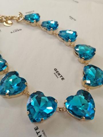 Ex Heart blue necklace by Silvia Gnecchi x Gente Roma