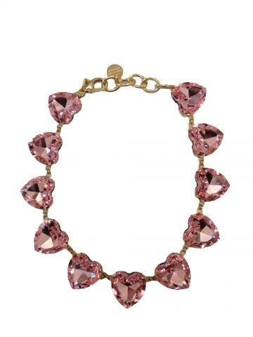 Ex Heart pink necklace by Silvia Gnecchi x Gente Roma