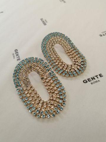 Blue Medium Liberty earrings Silvia Gnecchi x Gente Roma