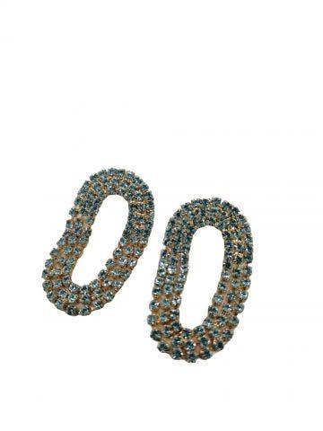 Blue Mini Liberty earrings Silvia Gnecchi x Gente Roma