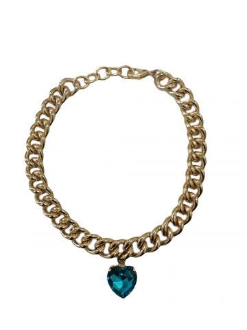 My Heart blue necklace by Silvia Gnecchi x Gente Roma