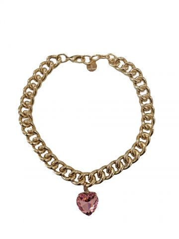 My Heart pink necklace by Silvia Gnecchi x Gente Roma