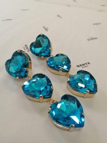 Blue My Heart earrings Silvia Gnecchi x Gente Roma