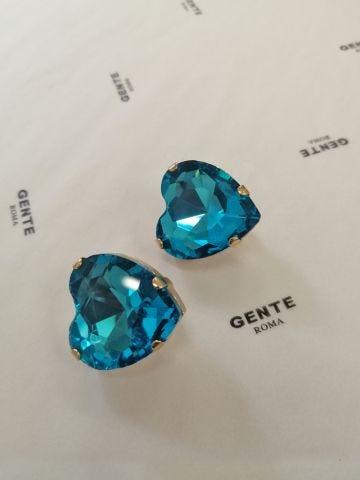 Earrings Ex Heart blue Silvia Gnecchi x Gente Roma