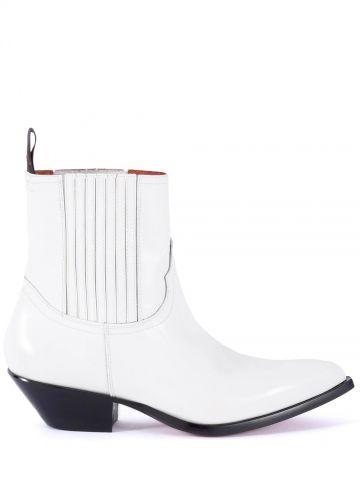 White Hidalgo Chelsea boots