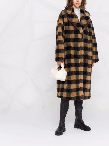 Maria checked coat