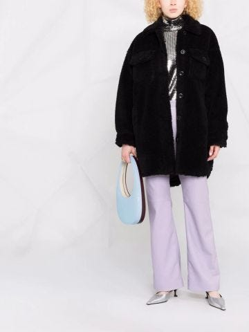 Black Sabi teddy-texture jacket