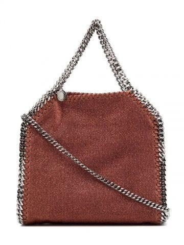 Brown Falabella Mini Glittery Lurex Tote bag