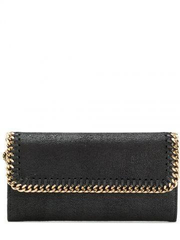 Black Falabella Continental Wallet