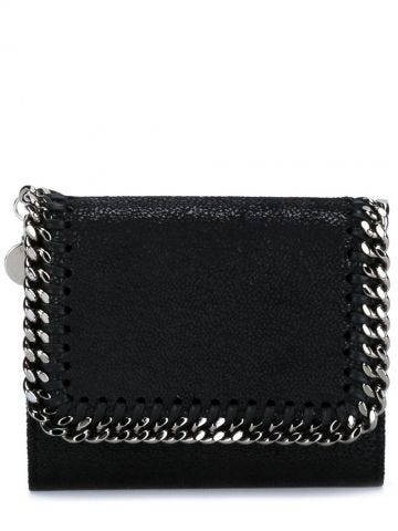 Black Falabella Small Wallet