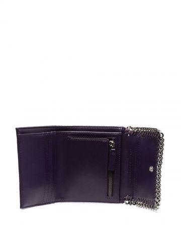 Purple Falabella Small Flap Wallet