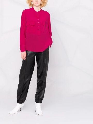 Estelle shirt in pink crepe de chine silk