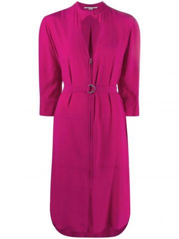 Pink dress with zip