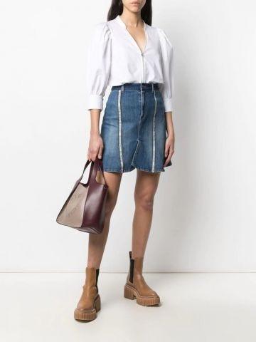 White Rose zip-up shirt