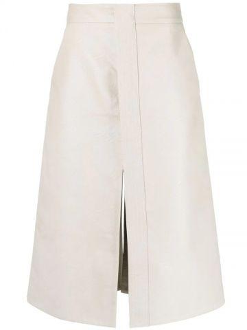 Light grey Lauren A-line skirt