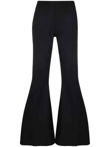 Mona black flared trousers