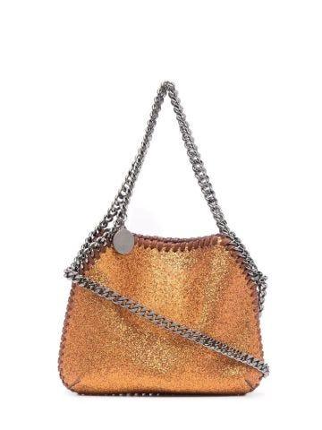 Orange mini Falabella bag