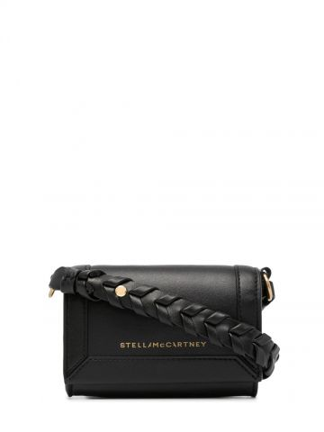 Black Cardholder with strap and logo