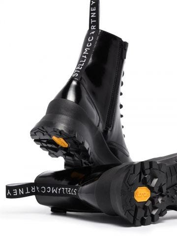 Black Trace Logo Boots