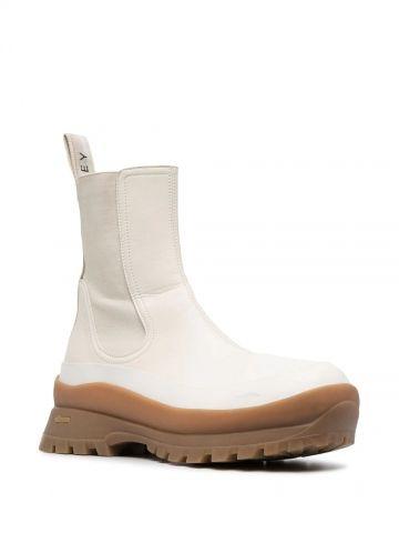 Stivali Trace bianchi