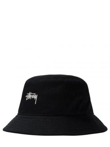 Cappello da pescatora nero con logo